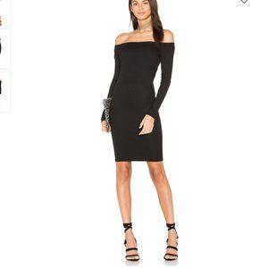 Enza Costa 'Rib Off Shoulder Mini Dress' sz S